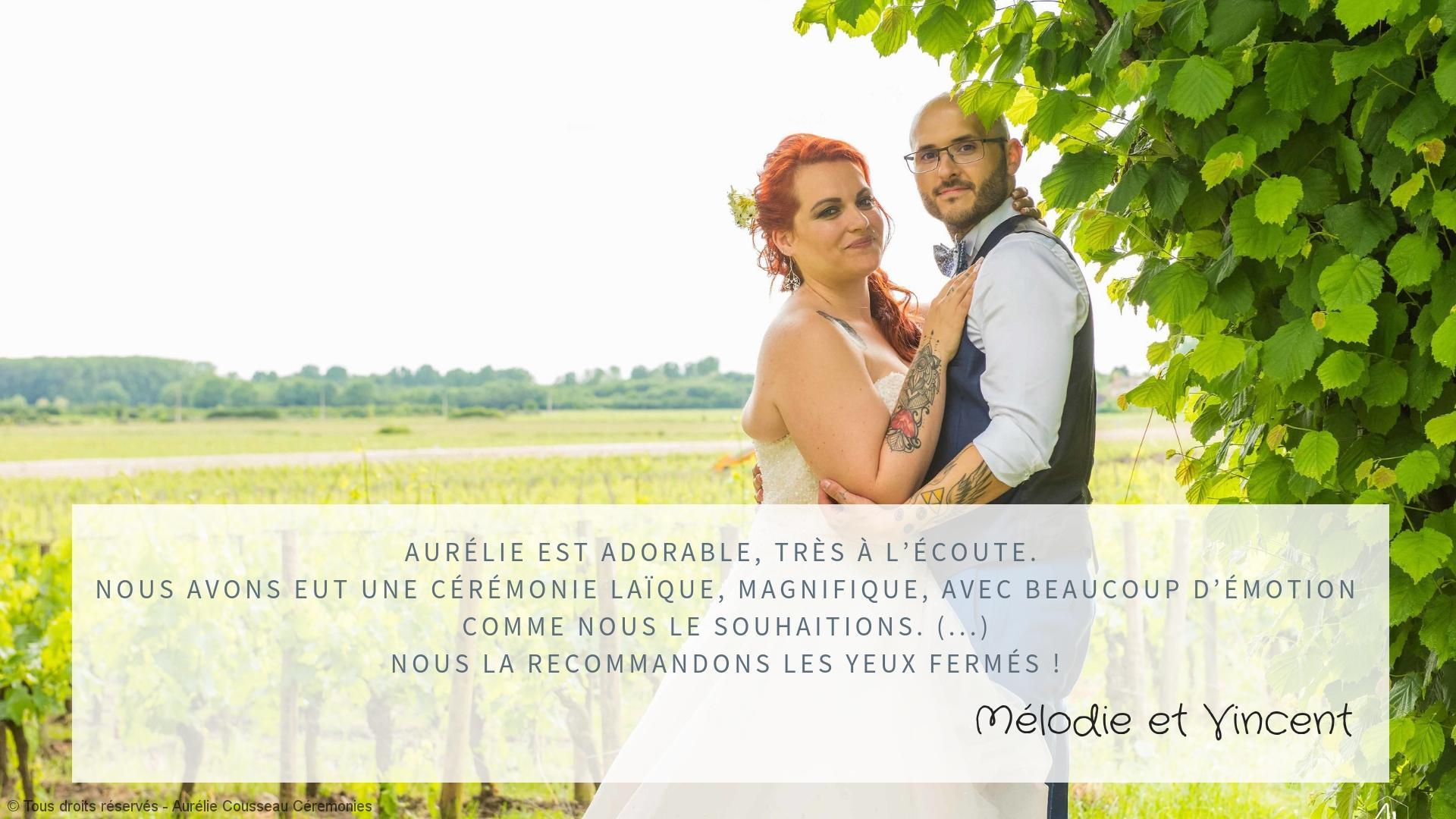 Témoignage Mélodie et vincent coup de foudre-cérémonie de S&C -PhotoChristelle bellegarde-aurelie cousseau cérémonies