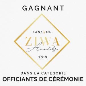 Recompense ZIWA 2019 meilleur officiant de cérémonie