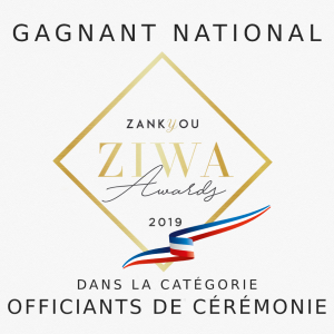 Recompense nationale ZIWA 2019 meilleur officiant de cérémonie